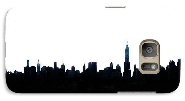 Nyc Silhouette Galaxy Case by Natasha Marco