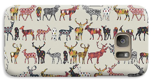 Oatmeal Spice Deer Galaxy Case by Sharon Turner