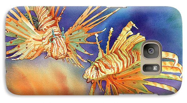 Ocean Lions Galaxy Case by Tracy L Teeter