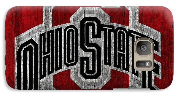 Ohio State University On Worn Wood Galaxy S7 Case by Dan Sproul