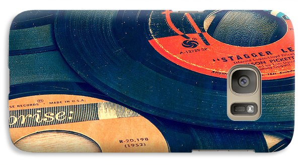 Old 45 Records Square Format Galaxy Case by Edward Fielding