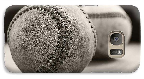 Old Baseballs Galaxy Case by Edward Fielding