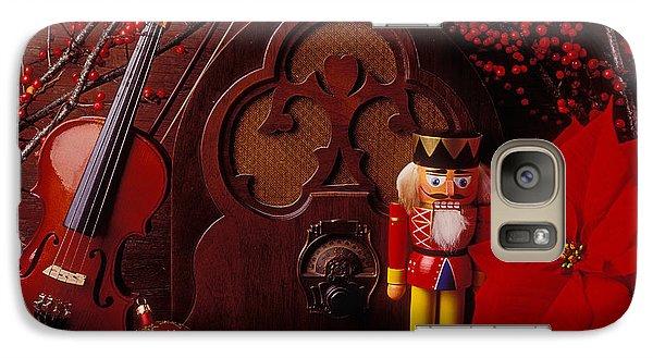 Old Raido And Christmas Nutcracker Galaxy Case by Garry Gay