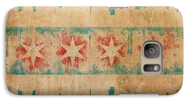 Old World Chicago Flag Galaxy S7 Case by Mike Maher