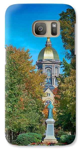 On The Campus Of The University Of Notre Dame Galaxy S7 Case by Mountain Dreams