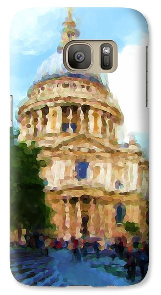 On The Steps Of Saint Pauls Galaxy Case by Jenny Armitage