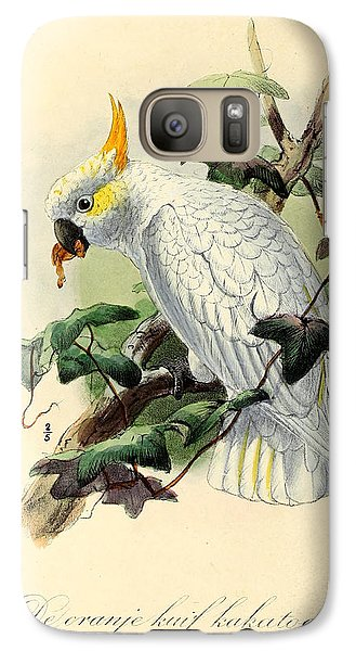 Orange Cockatoo Galaxy Case by J G Keulemans