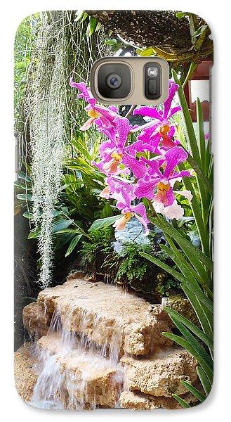Orchid Garden Galaxy Case by Carey Chen