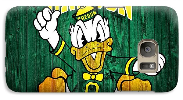 Oregon Ducks Barn Door Galaxy S7 Case by Dan Sproul
