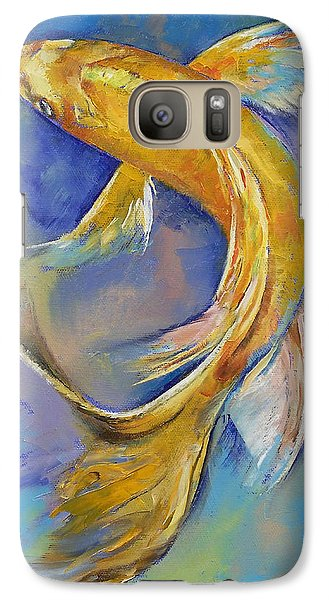 Orenji Butterfly Koi Galaxy Case by Michael Creese