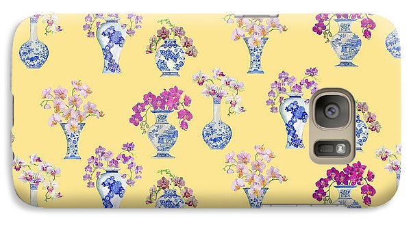 Oriental Vases With Orchids Galaxy S7 Case by Kimberly McSparran