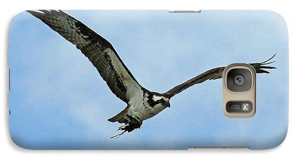 Osprey Nest Building Galaxy Case by Ernie Echols