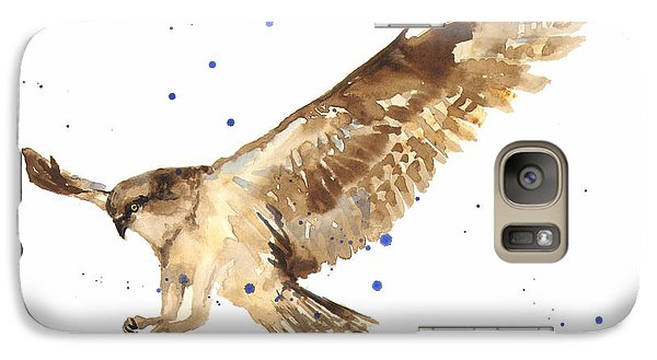 Osprey Painting Galaxy Case by Alison Fennell