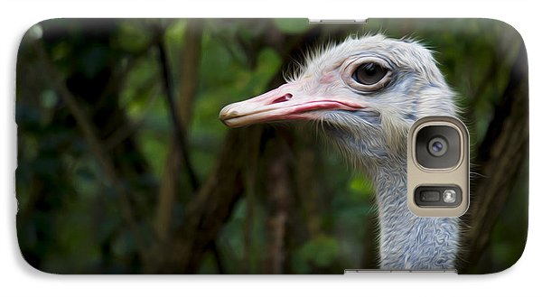 Ostrich Head Galaxy S7 Case by Aged Pixel