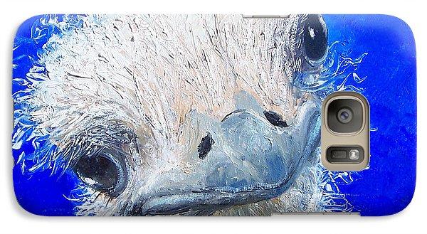 Ostrich Painting 'waldo' By Jan Matson Galaxy Case by Jan Matson