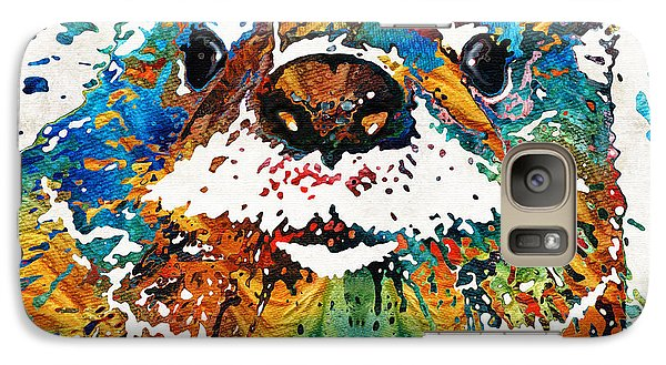 Otter Art - Ottertude - By Sharon Cummings Galaxy Case by Sharon Cummings