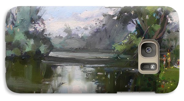 Outdoors At Hyde Park Galaxy Case by Ylli Haruni