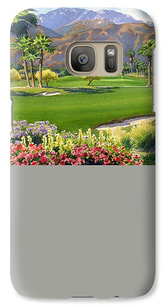 Palm Springs Golf Course With Mt San Jacinto Galaxy Case by Mary Helmreich