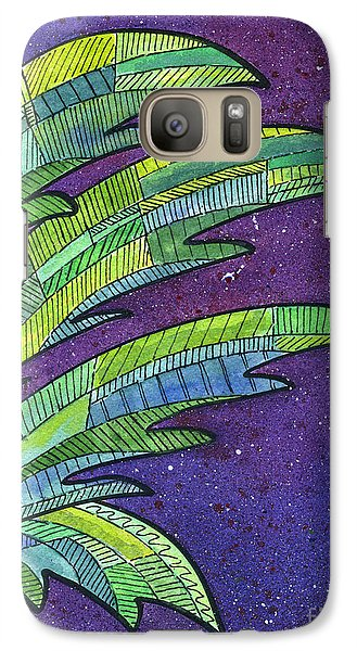 Palms Against The Night Sky Galaxy S7 Case by Diane Thornton