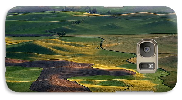 Palouse Shadows Galaxy Case by Mike  Dawson