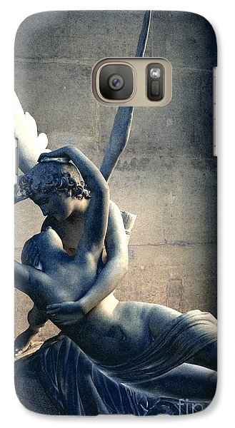 Paris Eros And Psyche Romantic Lovers - Paris In Love Eros And Psyche Louvre Sculpture  Galaxy Case by Kathy Fornal