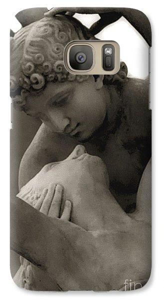 Paris - Eros And Psyche Romantic Sculpture Galaxy Case by Kathy Fornal
