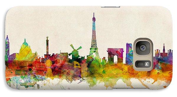 Paris France Skyline Panoramic Galaxy S7 Case by Michael Tompsett