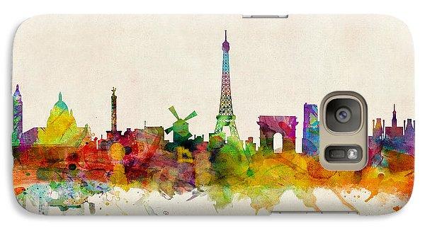 Paris Skyline Galaxy S7 Case by Michael Tompsett