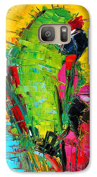 Parrot Lovers Galaxy Case by Mona Edulesco
