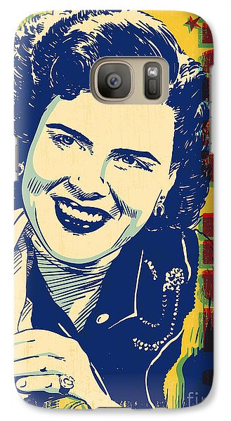 Patsy Cline Pop Art Galaxy Case by Jim Zahniser