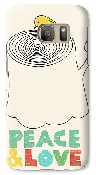 Peace And Love Galaxy S7 Case by Eric Fan