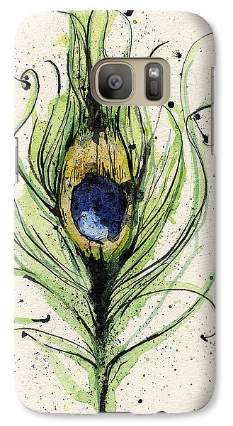 Peacock Feather Galaxy S7 Case by Mark M  Mellon