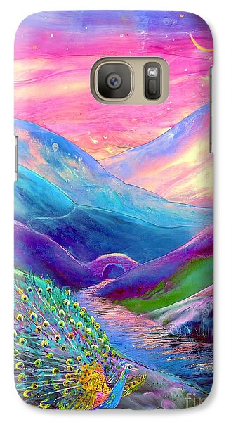 Peacock Magic Galaxy Case by Jane Small
