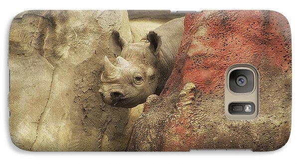 Peek A Boo Rhino Galaxy S7 Case by Thomas Woolworth