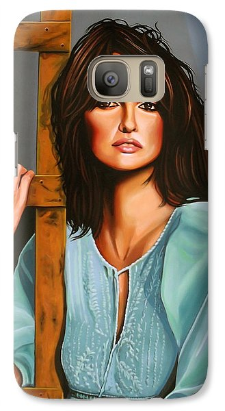 Penelope Cruz Galaxy Case by Paul Meijering