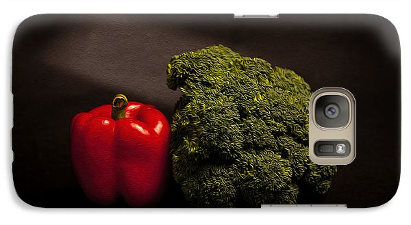 Pepper Nd Brocoli Galaxy Case by Peter Tellone
