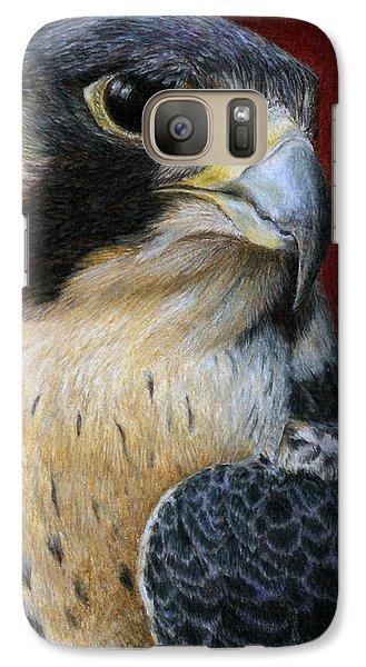 Peregrine Falcon Galaxy S7 Case by Pat Erickson