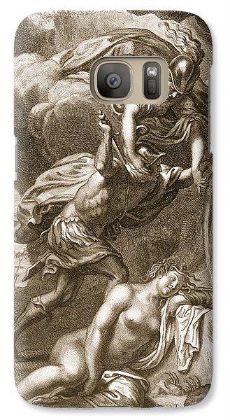 Perseus Cuts Off Medusas Head, 1731 Galaxy S7 Case by Bernard Picart