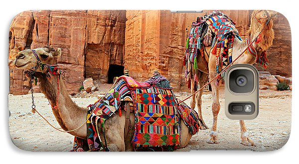 Petra Camels Galaxy S7 Case by Stephen Stookey