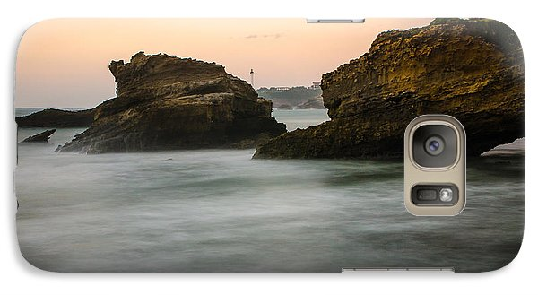 Galaxy Case featuring the photograph Phare De Biarritz by Thierry Bouriat