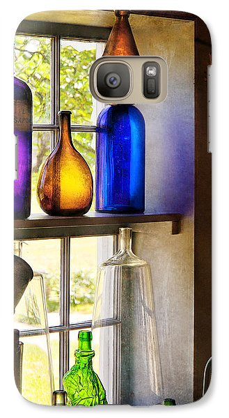 Pharmacy - Colorful Glassware  Galaxy S7 Case by Mike Savad