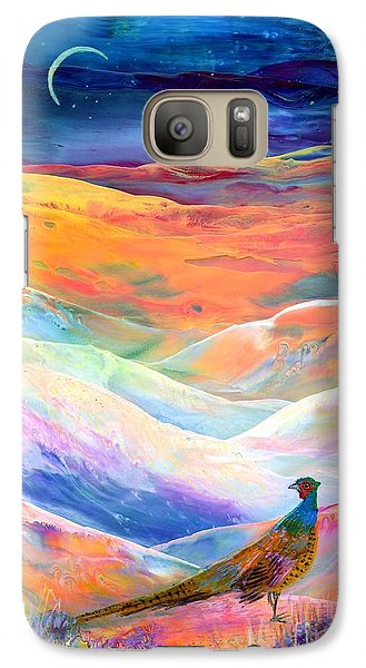 Pheasant Moon Galaxy S7 Case by Jane Small