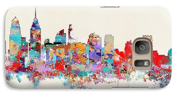 Philadelphia Skyline Galaxy S7 Case by Bri B