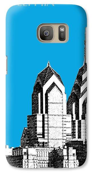Philadelphia Skyline Liberty Place 1 - Ice Blue Galaxy S7 Case by DB Artist