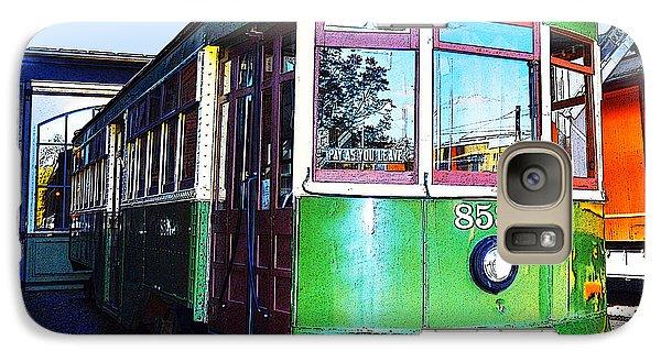 Galaxy Case featuring the photograph Philadelphia Trolley Car C1926 by A Gurmankin