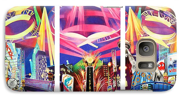 Phish New York For New Years Triptych Galaxy S7 Case by Joshua Morton