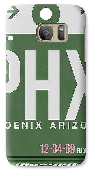Phoenix Airport Poster 2 Galaxy S7 Case by Naxart Studio