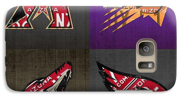 Phoenix Sports Fan Recycled Vintage Arizona License Plate Art Diamondbacks Suns Coyotes Cardinals Galaxy S7 Case by Design Turnpike