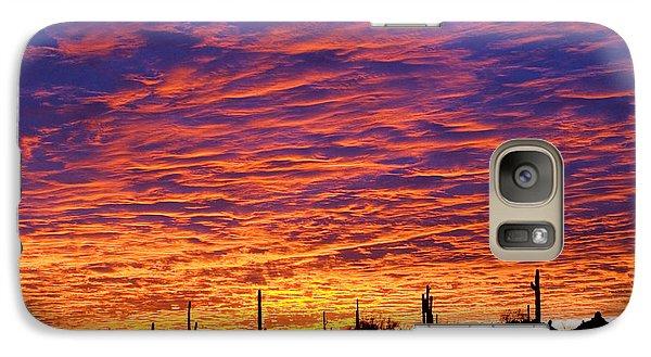 Phoenix Sunrise Galaxy Case by Jill Reger