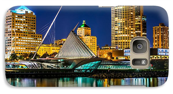 Picture Of Milwaukee Skyline At Night Galaxy S7 Case by Paul Velgos